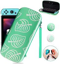 Carrying Case for Switch Lite/Switch with 2PCS Silicone Thumb Grip Caps