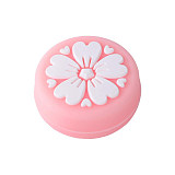 Tscope Sakura Flower Thumb Switch Grip Caps 2 pcs Pink& 2pcs White Soft Silicone Cover