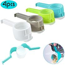4PCS Seal Pour Food Storage Bag Clip