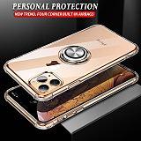 Transparent 3D Shockproof Case Samsung Magnetic Bracket Car Phone Stand Cover