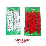 Joy-Enlife 12pcs/lot  Bow Tie Christmas Tree Decoration Christmas Pendant Tree Decoration Baubles Fashion New Year Supplies