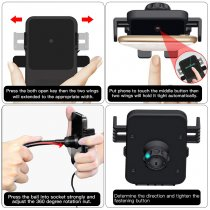 Cigarette Lighter Car Mount,3-In-1 Wireless Charging&Car Phone Holder&Dual USB Charger