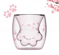 Cat Paw Mug Double Glass Cat Claw Coffee Cup