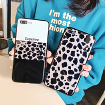Tup soft shell simple cartoon leopard frosted phone case