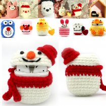 Airpods Bluetooth Cartoon Earphone Protective Sleeve Wool Hand-Knitted