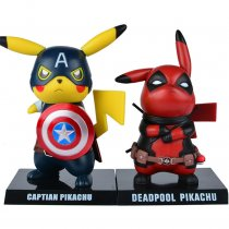 Captain Deadpool Pikachu Garage kits COS Marvel dead serve the US captain ornaments