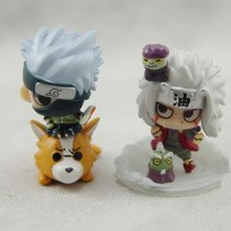 6Pcs/Kits Naruto World War GARAGE KIT Figure Action PVC Model Doll Toy