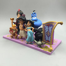 9pcs/set princess figure toy Jasmine Evil Monkey Aladdin Lamp PVC Action Figure Model Dolls