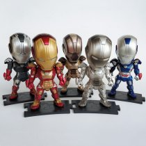 Marvel Iron Man Action Figure five Pcs Iron Man PVC Model Toy