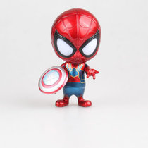 Marvel Spider-Man Action Figures Avengers Q version GARAGE KIT PVC Model toys