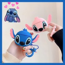 3D Stitch Airpods Case Cartoon Silicone Bluetooth Apple Earphone Key ring Protective Cover