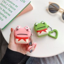 3D Frog Apple Airpods Case Cute Cartoon Bluetooth Wireless Charging Earphone Protective Case