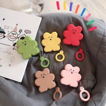 Korean Colour Bear Apple AirPods case Wireless Bluetooth Headset Silicone Protector