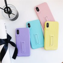 Ins candy color iPhone case with holder luggage tpu8 style iPhone protective shell
