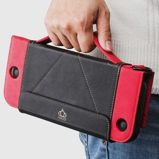 Nintendo Switch Wallet Style Carrying Case,  PU Leather Protect Flip Travel Cover for Nintendo Switch Case