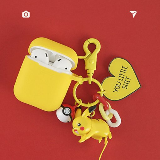 Kawaii Pikachu Airpods Case silicone Wireless Bluetooth earphone Apple Airpods1/2 cover