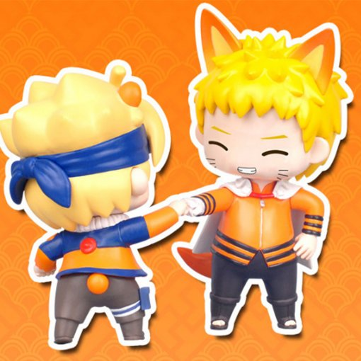 Naruto Action Figure Toys Q style Uzumaki Naruto Naruto's Blogger PVC Model Doll Collection