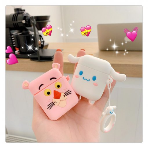 Disney Airpods Case Apple Pink Panther Cinnamoroll soft Silica gel Earphone shell