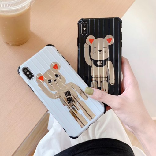 Super Cute Bear Case Compatible with iPhone XR/X/XS Max Soft Silicone Shockproof Protective Case