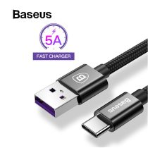 Baseus USB Type C 5A Cable for Huawei P20 Pro Lite Chager Cable USB C Quick Charge 3.0 Cable for Huawei P10 P9 Plus