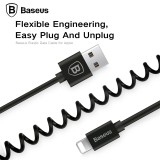 Baseus Retractable Spring 8pin Charging Cable Data Sync USB Charger Cable For iPhone X 8 7 6 5 iPad IOS 9 10 11 Data Sync Cable