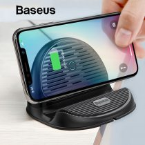 Baseus Desktop QI Wireless Charger 10W Radiating Fan Wireless Fast Charging Charger for iPhone XS Max XR Samsung S9 Note9 Huawei