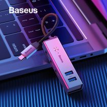 Baseus USB or Type C 3.0 to 3 USB3.0 + 2 USB2.0 OTG HUB Converter Adapter Compatible Windows Mac OS System for Type-C MacBook