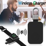 QI Wireless Charger for Apple Watch 4 1 2 3 Portable Mini Powerbank External Battery KeyChain Wireless Charger for iWatch 2 3 4