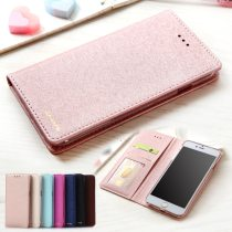Silk Leather Wallet Case For iPhone 6 6S 7 8 Plus iphone X XS Max XR 5 5s SE Phone Cover With Magnet Card Holder Flip Coque