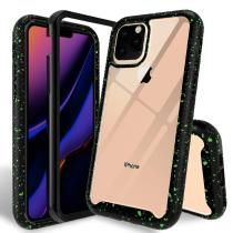 For iPhone 11 2019 Case, [Shock Absorption] Armor Hybrid Defender Shockproof Crystal Clear Heavy Duty Non-Slip Soft TPU Cover