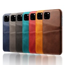 Retro PU Leather Phone Case For iPhone 11 Pro Max X XR XS Max Slim Card Holder Slot Plastic Cover For Samsung Note 10 Plus