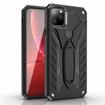 Shockproof Case For iPhone 11 11Pro Max Luxury Soft TPU Hard PC Stand Phone Shell For iPhone 11 Pro Max Case Holder Cover