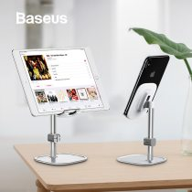 Baseus Mobile Phone Stand Holder for iPhone iPad Air Smartphone Metal Desk Desktop Phone Mount Holder for Xiaomi Huawei Tablet