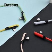 Baseus USB Cable for iPhone 11 XR 8 Charge Cable PD 18W Fast Charging USB C to for Lightning Cable Elbow Charger Cable Data Cord