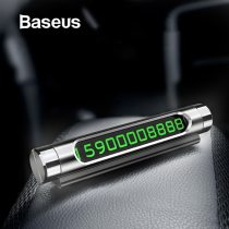 Baseus Mini Metal Car Temporary Parking Card Luminous Switchable Double Phone Number Plate Car Stickers Car-Styling