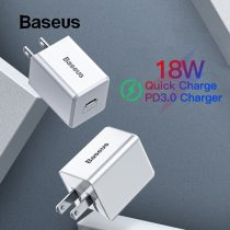 Baseus US Quick Charge PD 3.0 Charger for iPhone X Travel Fast Charger for samsung xiaomi Type C Interface Mobile Phone Charger