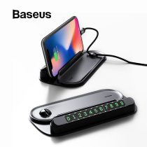 Baseus 2 in 1 Car Temporary Parking Card & Mobile Phone Holder Car Parking Card Phone Number Plate Car Styling Auto Accessories