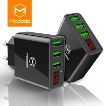 MCDODO 15W LED Display 3 USB Mobile Phone Charger For iPhone Samsung Portable Universal Fast Charging USB Wall Travel Adapter EU