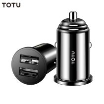 TOTU Phone USB Charging Cable Mini Dual USB Car Charger For mobile phone