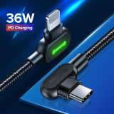 MCDODO 36W PD USB C to Fast Charging Cable For i Phone 11 Pro Xs Max Xr X 8 7 6 Plus Type C Phone Charger Data Cord