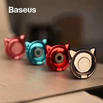 Baseus Metal Finger Ring Holder For iPhone Samsung Phone Ring 360 Cute Mobile Phone Holder Bracket for Magnetic Car Phone Holder
