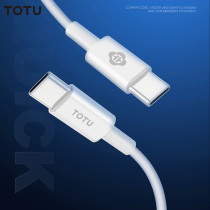 TOTU USB Cable Fast Charging USB Cable 2 in 1 USB-C to USB-C or Type-C Mobile Phone Cable For Mobile Phone