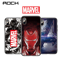 ROCK Luxury Tempered Glass Phone Case For Xiaomi Mi 8 Mi 9 Marvel Avengers Iron Man HD Patterned Cover Protective Fundas