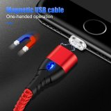 ROCK 5A Magnetic Cable Super Fast Charging Data Cord USB Type C LED Lighting Cable For iPhone Xiaomi Huawei Android Phone 1M