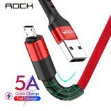 ROCK Micro USB Cable For Huawei Xiaomi Redmi Fast Charging Android Mobile Phone USB Charging Cord Micro Charger Data Cable