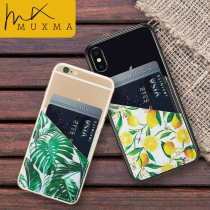 MUXMA Faux Leather Pocket For Apple iPhone X 8 7 6S Plus SE Wallet Cases Fashion Marble Stone Cherry Pattern Purse Pouch Covers