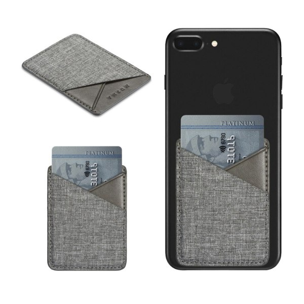 MUXMA High Quality Canvas Fashion Mobile Phone ID Card Holder Back Card Sticker Wallet Credit Pocket Adhesive Sticker