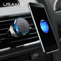 USAMS Car Magnetic Holder 360 Rotating Phone Holder Universal Air Vent Mount Car Magnet Holder Stand for iphone 5 6 7 Samsung