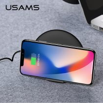 USAMS Qi Wireless Charger QC 3.0 Fast Charging Mobile Phone Holder Charger 10W Max Wireless Phone Charger for iPhone Samsung