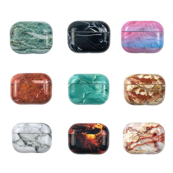 Marble Pattern Protective Case Dustproof Hard PC Cover Shell for Airpods Pro Kit